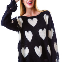 Wildfox Couture All Over Love Lennon Sweater