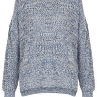 Knitted Tweedy Slouch Jumper - Jumpers - Knitwear  - Clothing