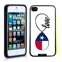 SudysAccessories Texas Love Texas Flag Infinity Love ThinShell Case Protective iPhone 5 Case iPhone 5S Case