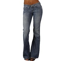 Plastic Wide Leg Denim in Light Rinse