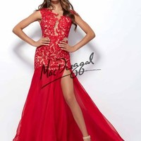 Black White Red by Mac Duggal 61041R Black & White by Mac Duggal Atianas Boutique Connecticut