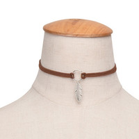 90's Leather Choker Necklace +Gift Box-171