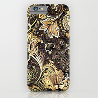 VINTAGE GOLDEN FLOWERS - for iphone iPhone & iPod Case by Simone Morana Cyla