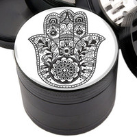 "Ouija Board Design - 2.25"" Premium Black Herb Grinder - Custom Designed"