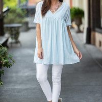 Keeping You Happy Tunic, Light Blue