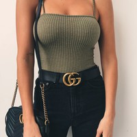 Buy Our Tori Bodysuit in Green Online Today! - Tiger Mist