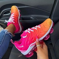 Nike Air VaporMax Plus women's hot sale gradient color air cushion sneakers shoes