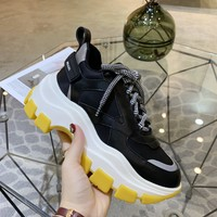 Kuyou Gx19711 Prada Black And Yellow Thick Sneakers