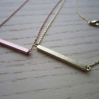 Matte crossbar necklace, simple, elegant, best bridesmaid gifts, Christmas gifts