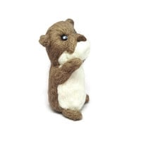 Otter, Otter Plush, Felt Otter, Otter decor, Unique Otter Gift, Needle Felt Animal, Cubicle Decor, Wool Animal, Miniature Animal, Wool Otter