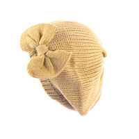 Knit Hat with Bow from ICA'STORE