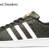 """Adidas Originals Superstar """"Black-White"""" Men's Trainers All Sizes Available"""