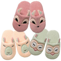 Woodland: Organic Cotton Non-Slip Toddler Slippers