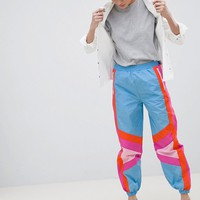 ASOS DESIGN colour block Shell jogger trousers at asos.com