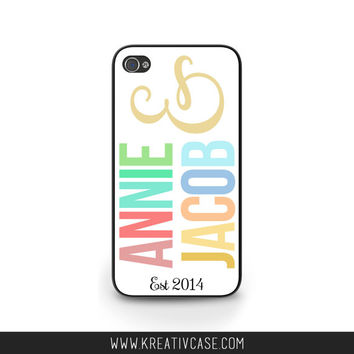 Wedding iPhone Case, iPhone 4, iPhone 4s, Gift, Anniversary Phone Case, Personalized Galaxy S4 Cover - K323