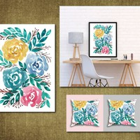 Hand painted flowers1b