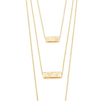 Cutout Rectangle Layered Necklace