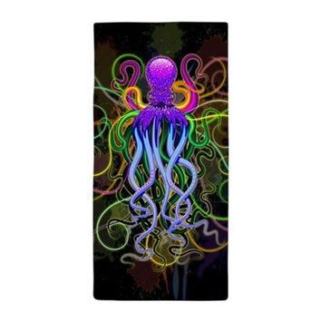OCTOPUS PSYCHEDELIC LUMINESCENCE BEACH TOWEL
