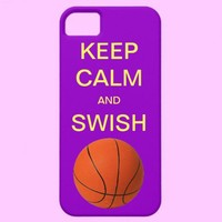 KEEP CALM AND SWISH BASKETBALL iPhone 5 Case from Zazzle.com