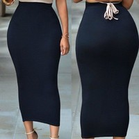 Solid Color Sexy Women Skirt
