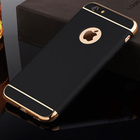 Luxury Hard Case For iphone 6 6S 7 5 5S Back Cover Coverage Removable 3 in 1 Fundas Case For i6 i7 i6s Plus Coque iPhone Case