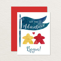 Meeples Printable Wedding Card / Relationship Card / Engagement Card / Nerdy Card
