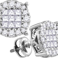 1-2CT-Diamond SOLEIL EARRINGS