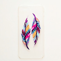 iPhone 6 Case Cover Feather iPhone 6 Hard Case Tribal Back Cover For iPhone 6 Slim Design Case