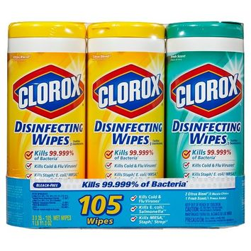 Clorox Disinfecting Wipes Value Pack Scented 105 ct Total
