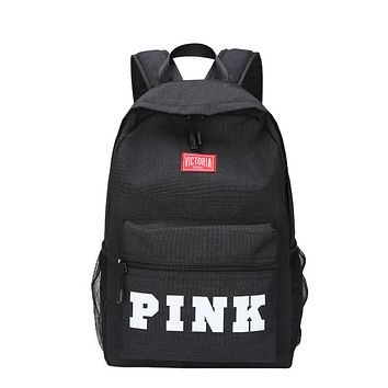 New Large Capacity Canvas School Bag Multi Pocket Travel Backpack Candy Colour Women Backpack