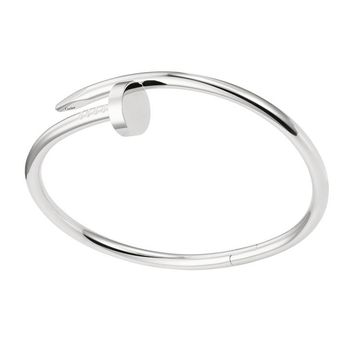 BeadyBoutique Love Nail Bracelet - White Gold