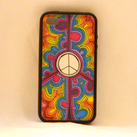 Equality In The Name of Peace, iPhone case, iPhone cover, iPhone 4/4s, peace sign, hippie, bohemian, vintage, retro, rainbow, hipster, teens