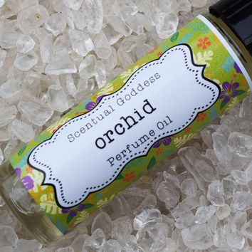 ORCHID Perfume Oil - Handmade Roll On Hawaiian Orchids Scented Floral Perfume