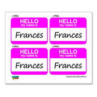 Frances Hello My Name Is - Sheet of 4 Stickers