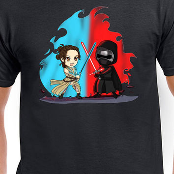 Star Wars The Force Awakens T-Shirt Rey VS Kylo Ren T-Shirt