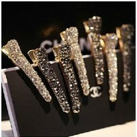TS392 Fashion Imitation hairpin alloy toothed fish head clip duckbill clip pearl Factory Direct