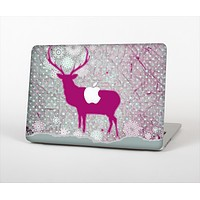 """The Pink Stitched Deer Collage Skin Set for the Apple MacBook Air 13"""""""