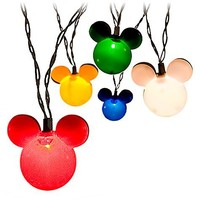 Disney Multicolor Mickey Mouse Holiday Lights -- Set of 10   Disney Store