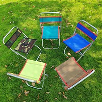 Outdoor Camping Chair Oxford Cloth Portable Folding Camping Chair Seat For Fishing Festival Picnic BBQ Beach Stool
