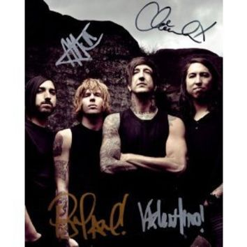 Of Mice and Men reprint signed band photo by all 4 #2 Austin Carlile