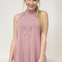 First Love Mock Top | Mauve