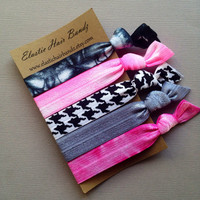 The Claire Hair Tie Collection - 5 Elastic Hair Ties by Elastic Hair Bandz on Etsy