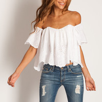 Stone Cold Fox Holy Tube top in eyelet: SoleilBlue.com