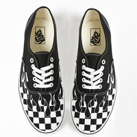 Vans Fashion Casual Running Old Skool Sneaker Black White tartan Flame Shoes