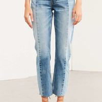 BDG High-Rise Straight + Narrow Jean - Spliced | Urban Outfitters
