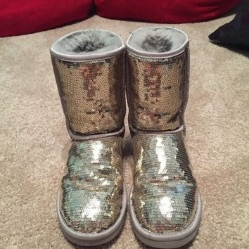 Silver Sparkly UGG Boots