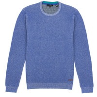 Plated crew neck knit - Blue | Knitwear | Ted Baker ROW