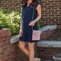 Getting Closer To You Dress, Navy