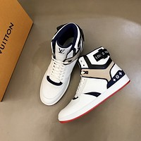 lv louis vuitton men fashion boots fashionable casual leather breathable sneakers running shoes 734