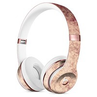 Faded Vintage Maroon Rococo Pattern Full-Body Skin Kit for the Beats by Dre Solo 3 Wireless Headphones